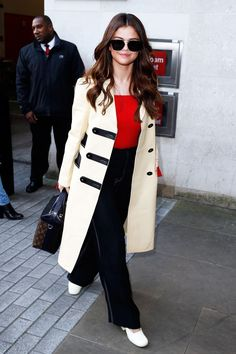 Watch out; Selena means business. (But for real, was she off to a meeting?) #refinery29 http://www.refinery29.com/selena-gomez-style-pictures#slide-3