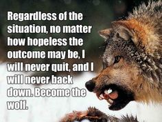 Inspirational Wolf Quote  PictureQuotes.com.