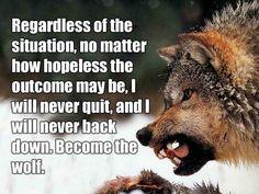 Inspirational Wolf Quote  PictureQuotes.com.