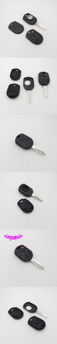 Xinyuexin Blade Transponder Chip Key Shell FOB Case For Ford Escape C-Max Focus 2+1 3 Buttons Replacement Key Shell