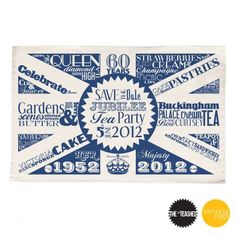 Tea Party Tea Towel by Victoria Eggs