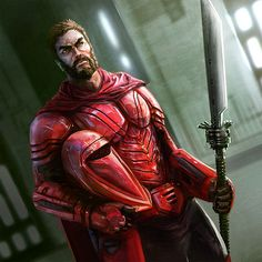 Carnor Jax, during his time as an Imperial royal guard, holding his vibrosword and helmet (1 BBY)