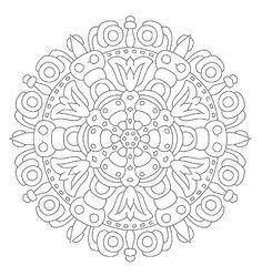 519 Best Coloring Pages Mandalas Images On Pinterest