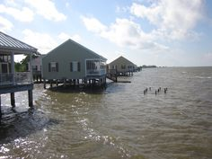 The cabins on Lake Ponchartrain at Fontainebleau State Park