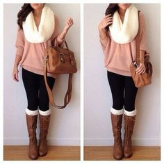 bef0sz-l-610x610-sweater-scarf-shoes-bag-socks-brown+boots-brown+bag-leggings-jeans-boots-winter+outfits-cute-winter--blouse-yellow-comfy-fall-cold-warm-soft-brown+leather+boots-leather-knee+high+b