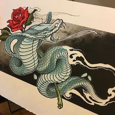 You are in the right place about Serpent tattoo desenho Here we offer you the most beautiful picture Japanese Snake Tattoo, Japanese Tattoo Designs, Asian Tattoos, Black Tattoos, Tattoo Sketches, Tattoo Drawings, Kobra Tattoo, Tattoo Oriental, Snake Art