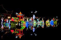 Procession de lanternes chinoises   © Susan Moss   the Montreal Botanical Garden
