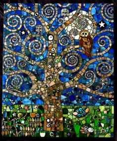 Klimt's Midnight Garden