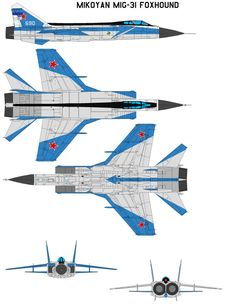 Mikoyan MiG-31 Foxhound by bagera3005 on DeviantArt