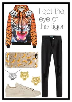 """""""#251 tigers"""" by xjet1998x ❤ liked on Polyvore featuring Casetify, Y-3, Kenzo and bhalo"""