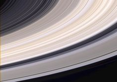 Saturn's rings are made primarily of water ice. Since pure water ice is white, it is believed that different colors in the rings reflect different amounts of contamination by other materials such as rock or carbon compounds. In conjunction with information from other Cassini instruments, Cassini images will help scientists determine the composition of different parts of Saturn's ring system.