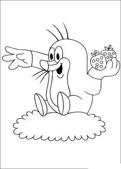 16 The Mole printable coloring pages for kids. Find on coloring-book thousands of coloring pages. Kids Printable Coloring Pages, Cartoon Coloring Pages, Animal Coloring Pages, Coloring Pages To Print, Coloring For Kids, Coloring Pages For Kids, Coloring Books, La Petite Taupe, Mole