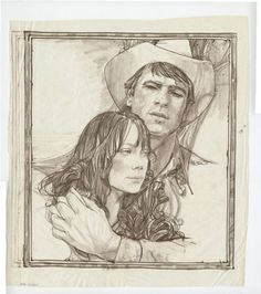 Another sketch for Coal Miner's Daughter (1980), illustration by Richard Amsel (1947-1985) (Courtesy of Adam McDaniel)