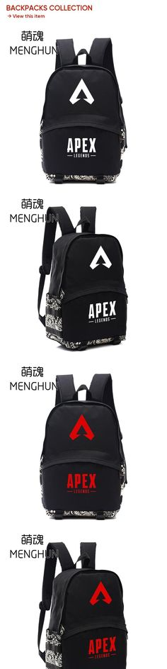 b504055549be 2019 backpack Game APEX legends backpack game fans gift black backpacks  schoolbag nylon game backpacks NB302