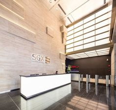 SGX - Singapore Stock Exchange  Headquarter Office Reception