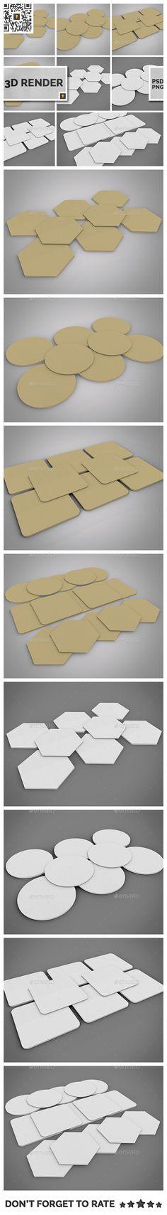 Paper Coaster 3D Render