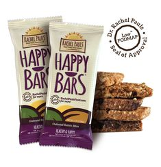 Oats, raisins and cinnamon in a chewy, tasty sunflower seed core. A low-FODMAP energy bar that is a healthy source of fiber, antioxidants and protein. Fodmap Diet, Low Fodmap, Vegan Protein Bars, No Bake Bars, Food Combining, Fodmap Recipes, Good Healthy Snacks, Energy Bars, Raisin