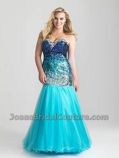 Black and Purple Plus Size Prom Dress  Sparkling Mermaid Dress ...