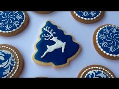 How To Decorate Christmas Cookies - YouTube