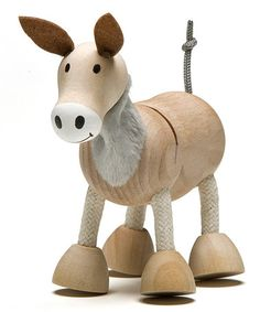 Take a look at this Donkey Wooden Toy by anamalz on #zulily today!