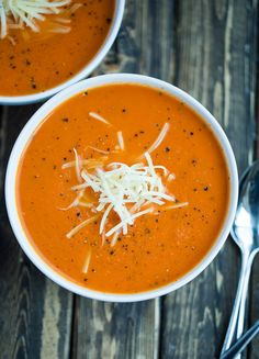 The best homemade tomato soup! It is far better than can tomato soup and is ready in less than 30 minutes.