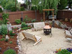 There are many easy front yard landscaping for homeowners that are easy to find. Either way you can have front yard landscaping that will take minimal work. Large Backyard Landscaping, Backyard Beach, Backyard Retreat, Fire Pit Backyard, Backyard Patio, Landscaping Ideas, Shady Backyard Ideas, Sloped Backyard, Mulch Landscaping