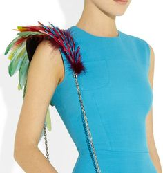 Christian Louboutin 20th Anniversary Artemis Plumes Shoulder Bag: I predict the next trend in bags is to spice up the strap...can't wait!
