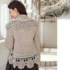 crochet knit jacket