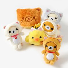 Rilakkuma's Motto Nonbiri Neko lineup is just so cute with each of the gang dressing up like their new feline friends. They're all so adorable though you might have trouble choosing your favorite!  Luckily this cute series takes the responsibility of choice away from you as you'll get one randomly selected mini plushie chosen from: Rilakkuma in a calico cat headdress, Rilakkuma in a tabby cat head... #plushie
