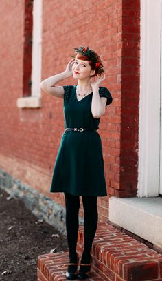 The Clothes Horse: Ghost Of Christmas Present in our Odina Dress. On SALE now! http://www.cindyjohnny.com/sale/odina-dress