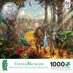 1000 Piece Thomas Kinkade Jigsaw Puzzle | Thomas Kinkade WB Movie Classics - Follow the Yellow Brick Road | hollywood | movies |  Ceaco