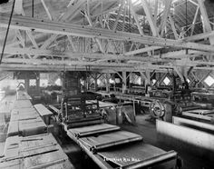 Machinery Inside Big Mill circa 1900. Courtesy of the Wisconsin Historical Society.