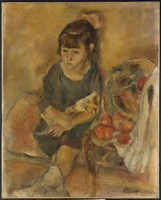 Jules Pascin (American (born Bulgaria) 1885–1930). Girl with a Kitten, ca. 1926. The Metropolitan Museum of Art, New York. Gift of the Leonore S. Gershwin 1987 Trust, 1993 (1993.89.2) #cats