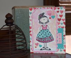 https://flic.kr/p/DFVWw4   Be Mine   Simon Says Holiday Shapes Lawn Fawn Rectangle Die and scalloped border MFT die tags OI Stamp  Made by AnnMarieRuda