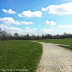 #parco urbano #Ferrara #italy #sky #clouds #2014 #blue #white #green #gray