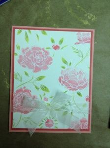 Sandy Booth's Fabulous Backgrounds Card Class Sept 6th  6:30pm  Fee $15