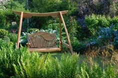 The stunning Kyokusen Garden Swing Seat is a unique and sculptural piece of garden furniture.The Kyokusen Swing Seat is cut from naturally curved Oak. Wooden Garden Swing, Garden Swing Seat, Bench Swing, Wooden Garden Planters, Wooden Swings, Garden Benches, Garden Seating, Garden Furniture, Outdoor Furniture