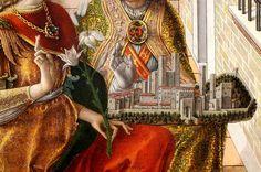 Carlo Crivelli (circa 1435–circa 1495) Annunciation with St. Emidius, (detail) 1486, London, National Gallery