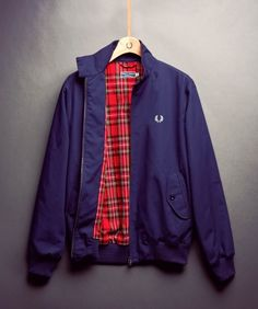 Fred Perry Harrington Jacket in Navy - SOLETOPIA