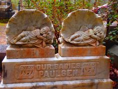 Twins - probably some sort of disaster. Bonaventure Cemetery, Savannah, GA.  Photo by Dick Bjornseth