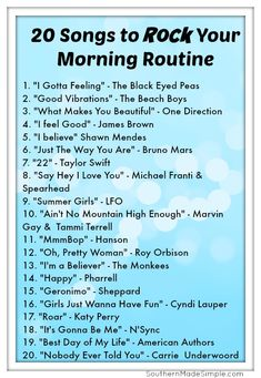 20 Songs to ROCK your morning routine! playlist 5 Ways.- 20 Songs to ROCK your morning routine! playlist 5 Ways to Boldly Be Your B… 20 Songs to ROCK your morning routine! playlist 5 Ways to Boldly Be Your Best Self Each Morning + Free Printable - Music Girl, Music Is Life, House Music, Music Mood, Mood Songs, Wake Up Songs, Upbeat Songs, Music Lyrics, Music Songs