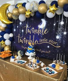 Baby Shower Cake Decorations, Baby Shower Cakes, Birthday Party Decorations, Baby Boy Shower, Baby Boy Birthday, Blue Birthday, Boy Birthday Parties, Birthday Cake, Star Baby Showers