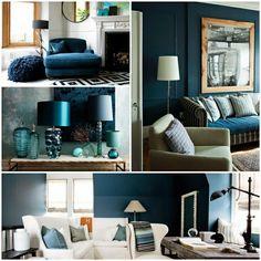 Petrol Wandfarbe Farbe Farbideen Wohnzimmer