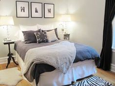 Love the zebra rug, and black out curtains (great for when on nights schedule and have to sleep during the day!)