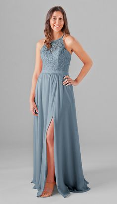 Madeline Embroidered Lace Bridesmaid Dress