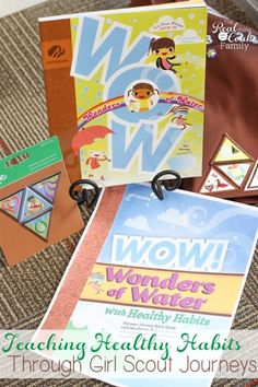 Great FREE resource for Girl Scout leaders to use with the Journeys to teach girls about healthy habits.