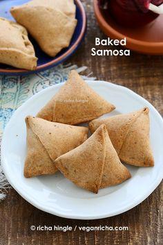 Baked Mung Dal Samosas and 12 Vegan Holi Recipes. Glutenfree Soyfree Options   Vegan Richa