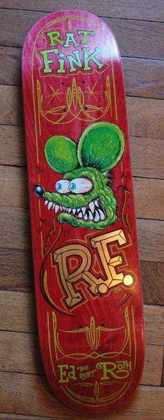 Rat Fink skateboard