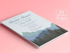Mountains bridal shower invitation template by 101prettydesigns