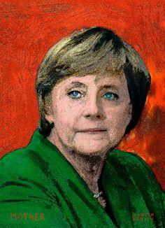 Portrait from the serie, world leaders World Leaders, Oil On Canvas, Roman, Portrait, Painting, Art, Angela Merkel, Art Background, Painted Canvas
